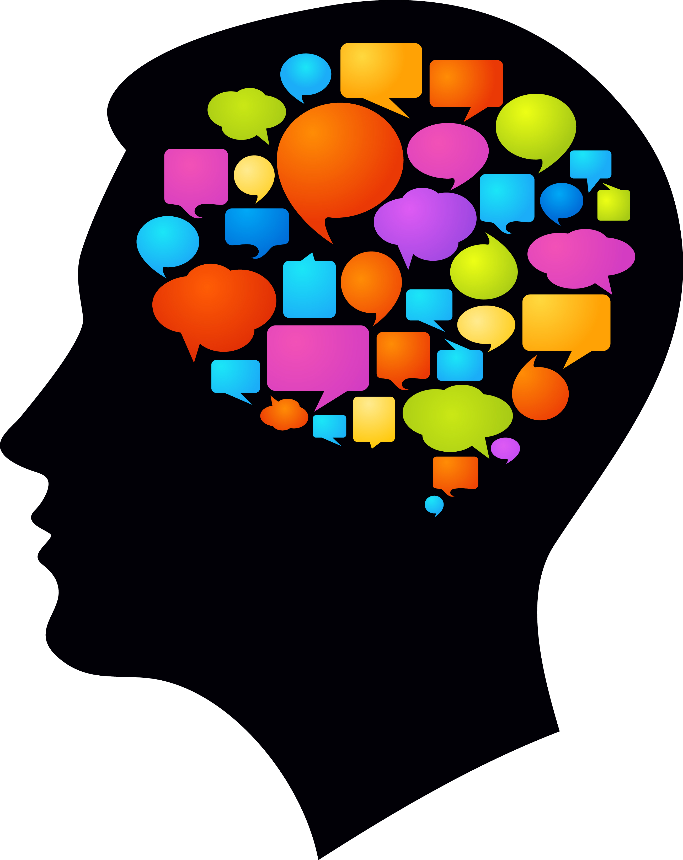 Silhouette of a at. Memories clipart brain logo