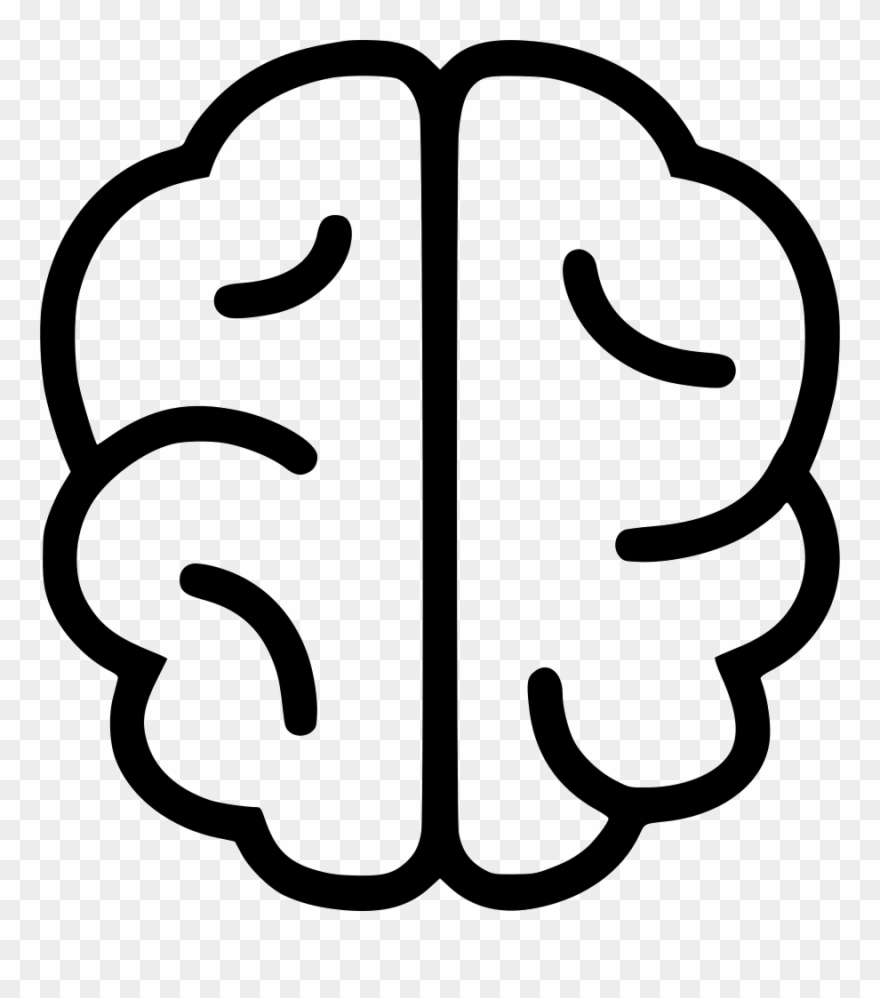 Icons line drawing . Clipart brain simple