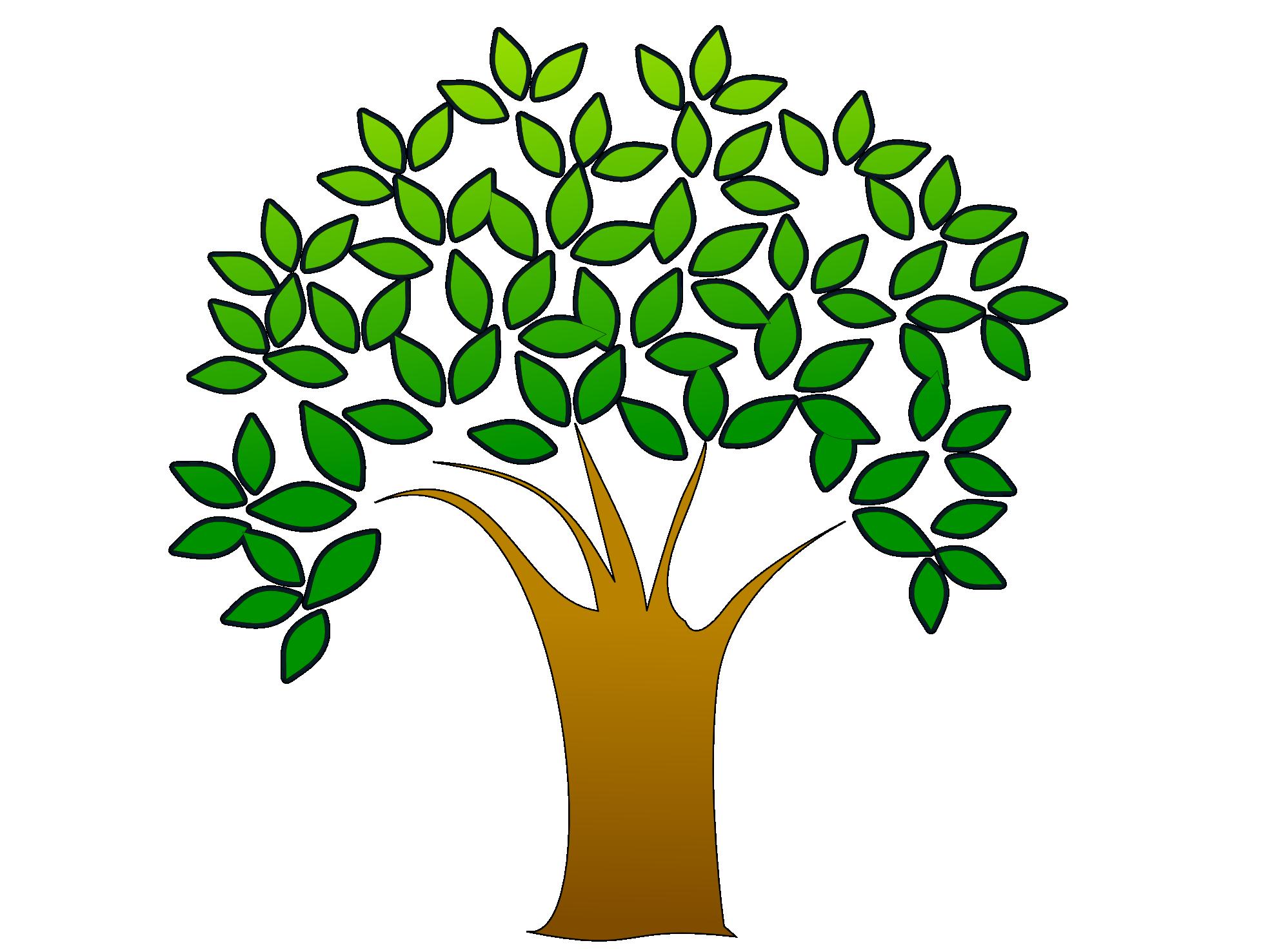 clipart brain tree