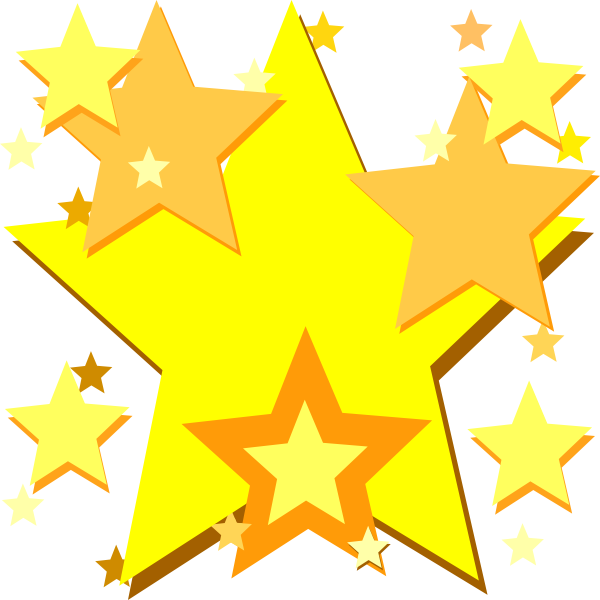 Yellow stars clip art. Writer clipart star writer