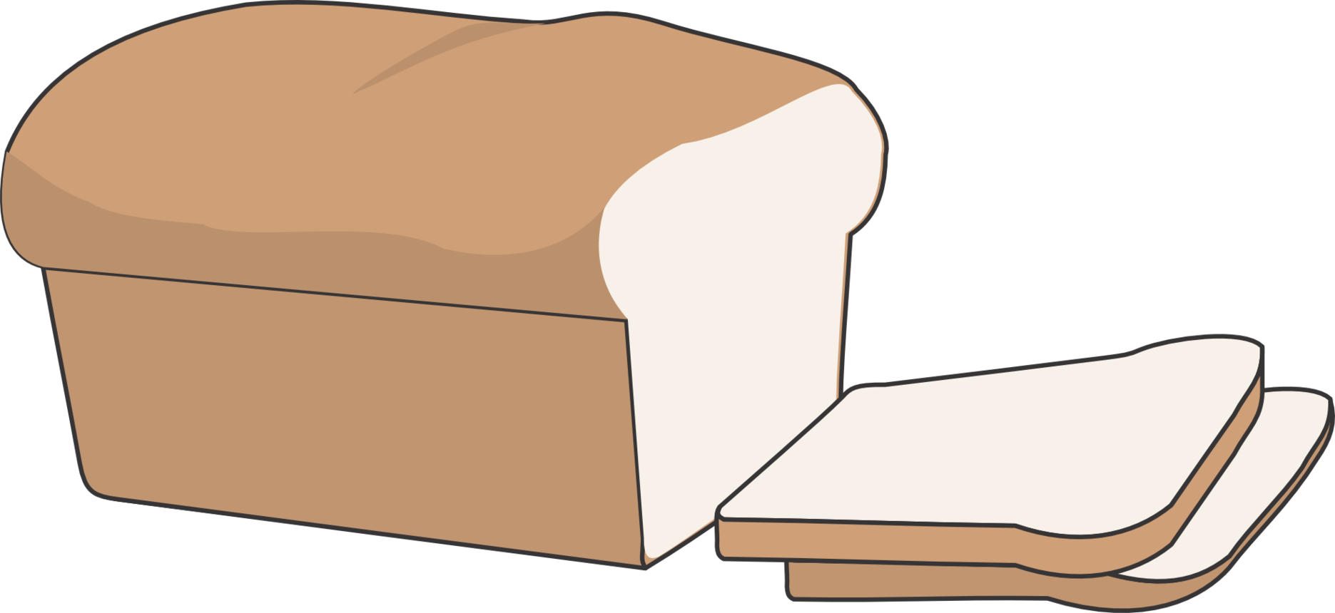collection of no. Clipart bread animated