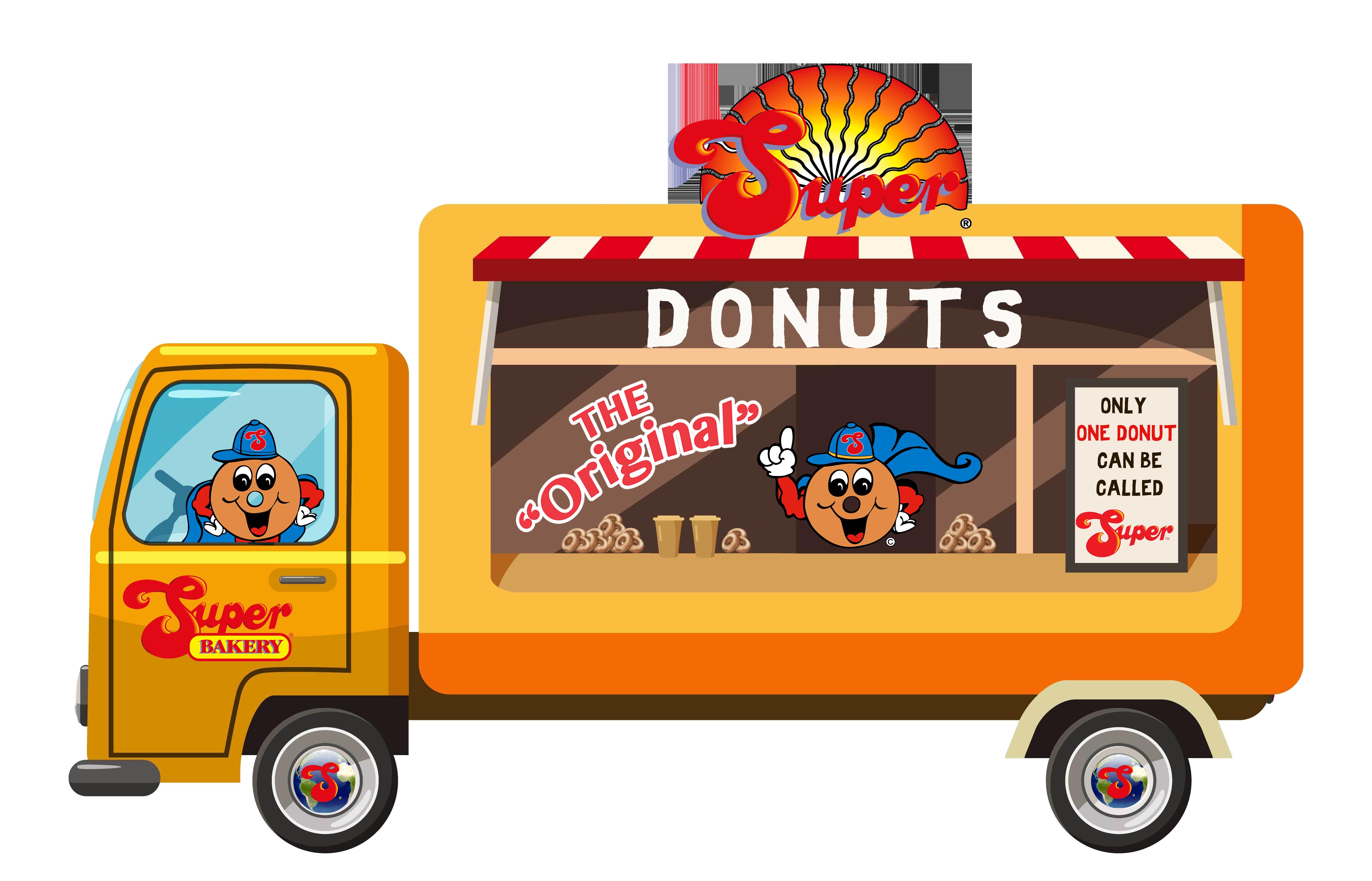 Donut clipart truck. Product catalog super bakery