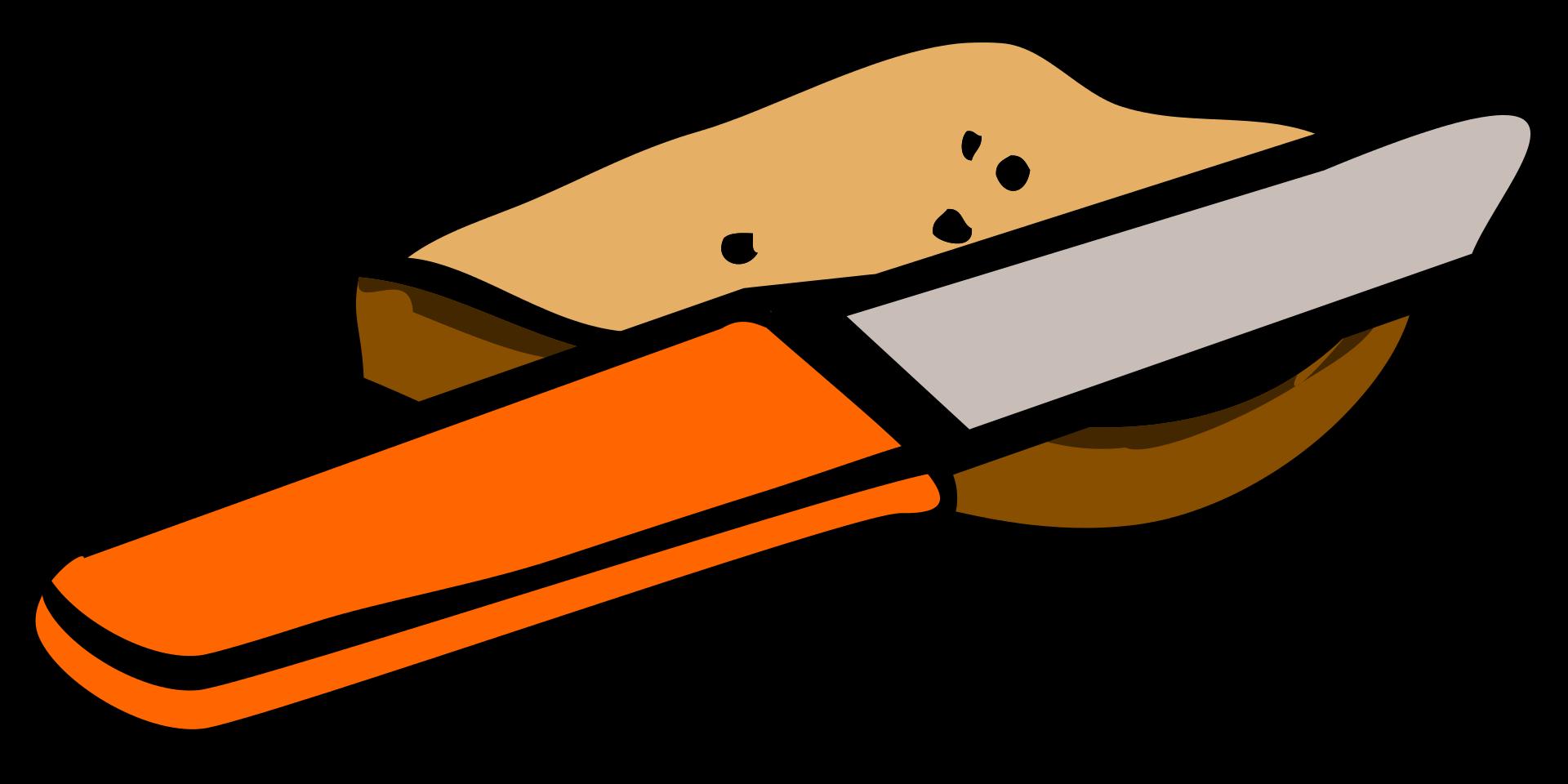 Knife white sliced clip. Clipart bread braed