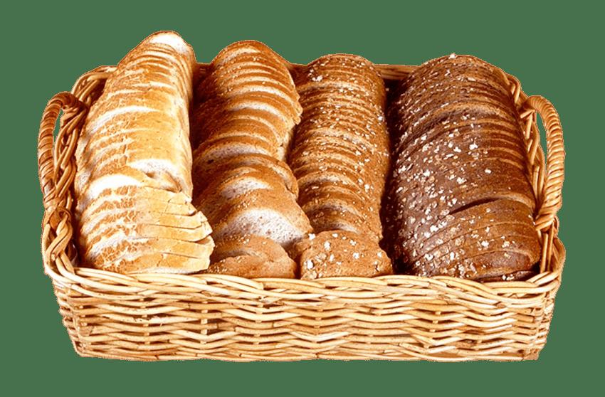 Slices in wicker png. Clipart bread bread basket