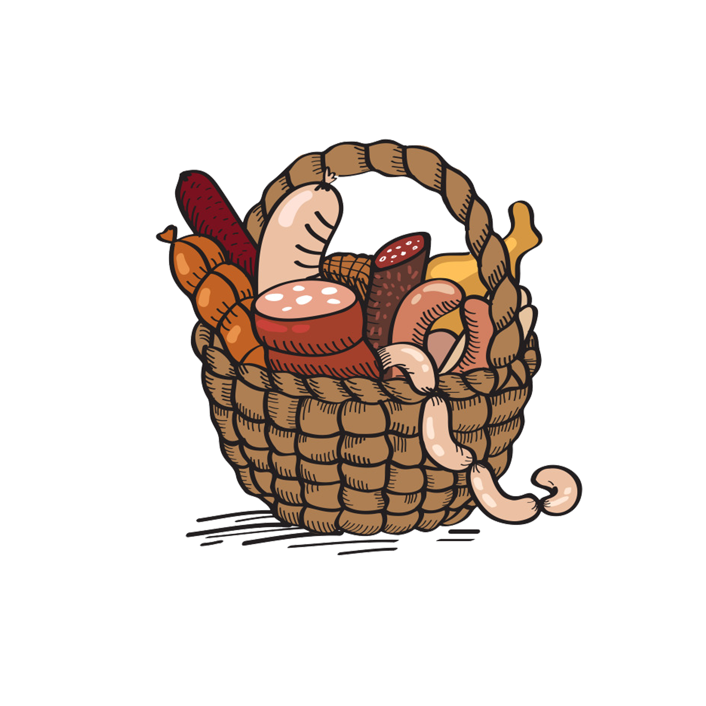 Clipart bread bread basket. Cartoon drawing clip art