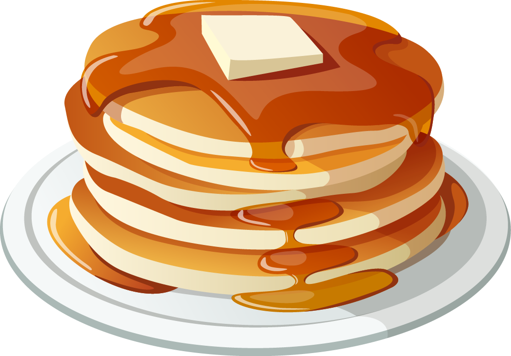 Breakfast bacon clip art. Clipart coffee pancake