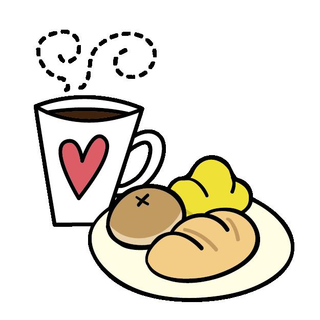 Breakfast food bread clip. Clipart coffee bagels
