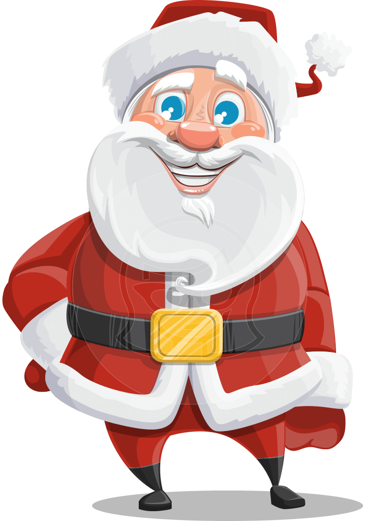 Mr claus a chubby. Stamp clipart north pole
