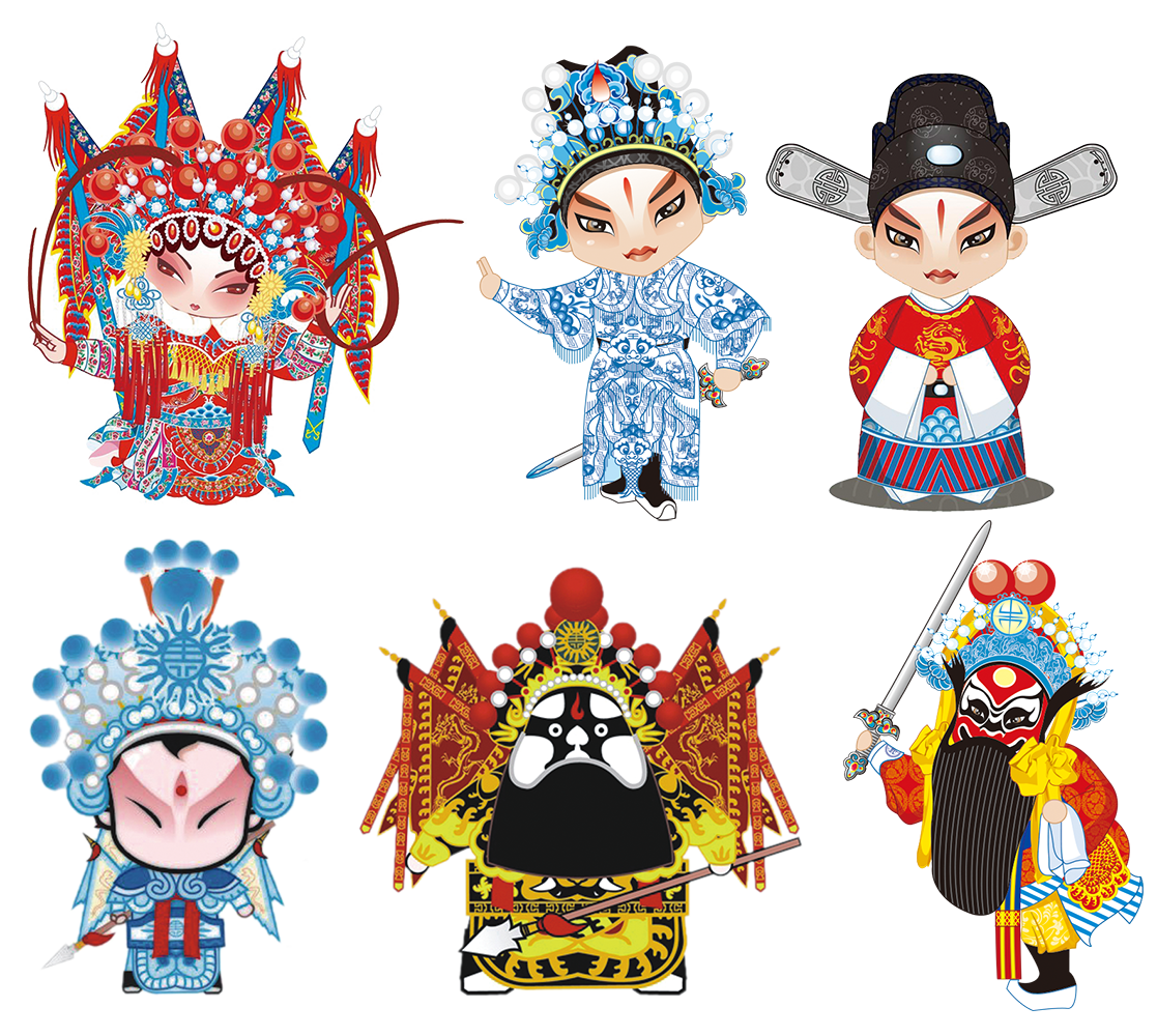 Clipart castle chinese. Peking opera cartoon the