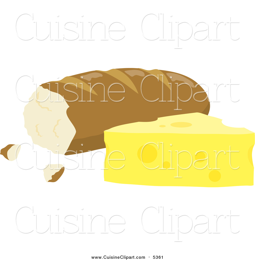 Cuisine of beside by. Clipart bread cheese bread