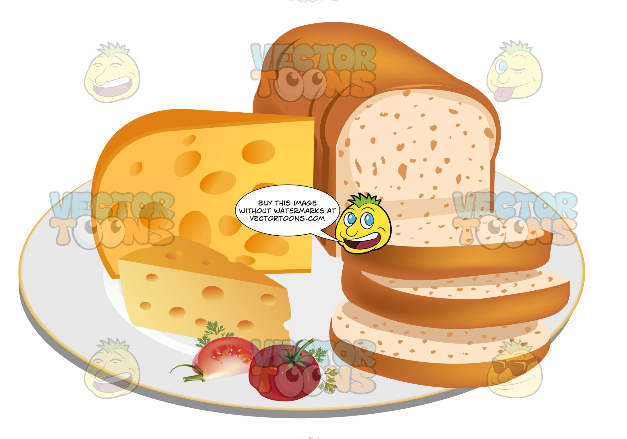 Clipart bread cheese bread. Sliced loaf of with