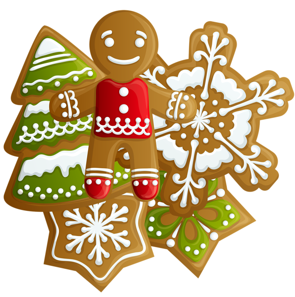 Clipart christmas sugar cookie. Transparent gingerbread and cookies