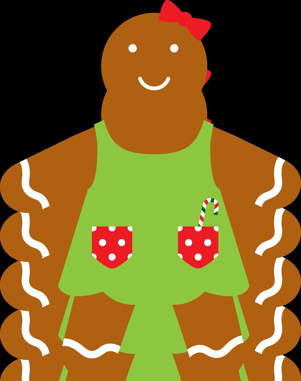 Gingerbread clipart kawaii. Christmas girl clip art
