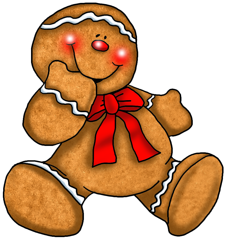 Transparent christmas gingerbread ornament. Fridge clipart things