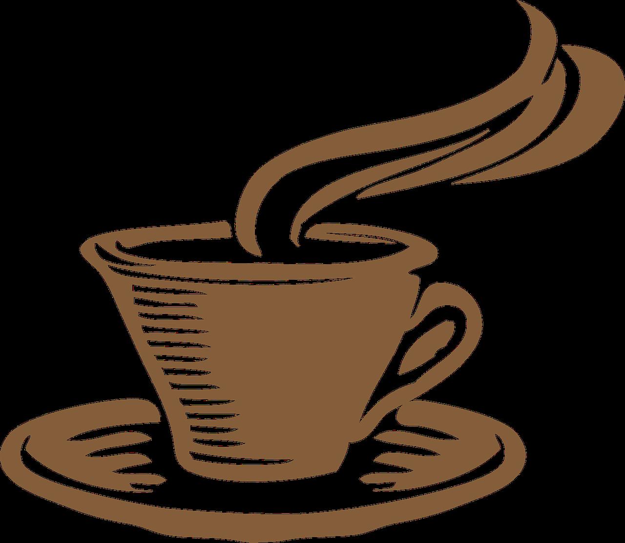 Cup tea clip art. Clipart coffee bagels