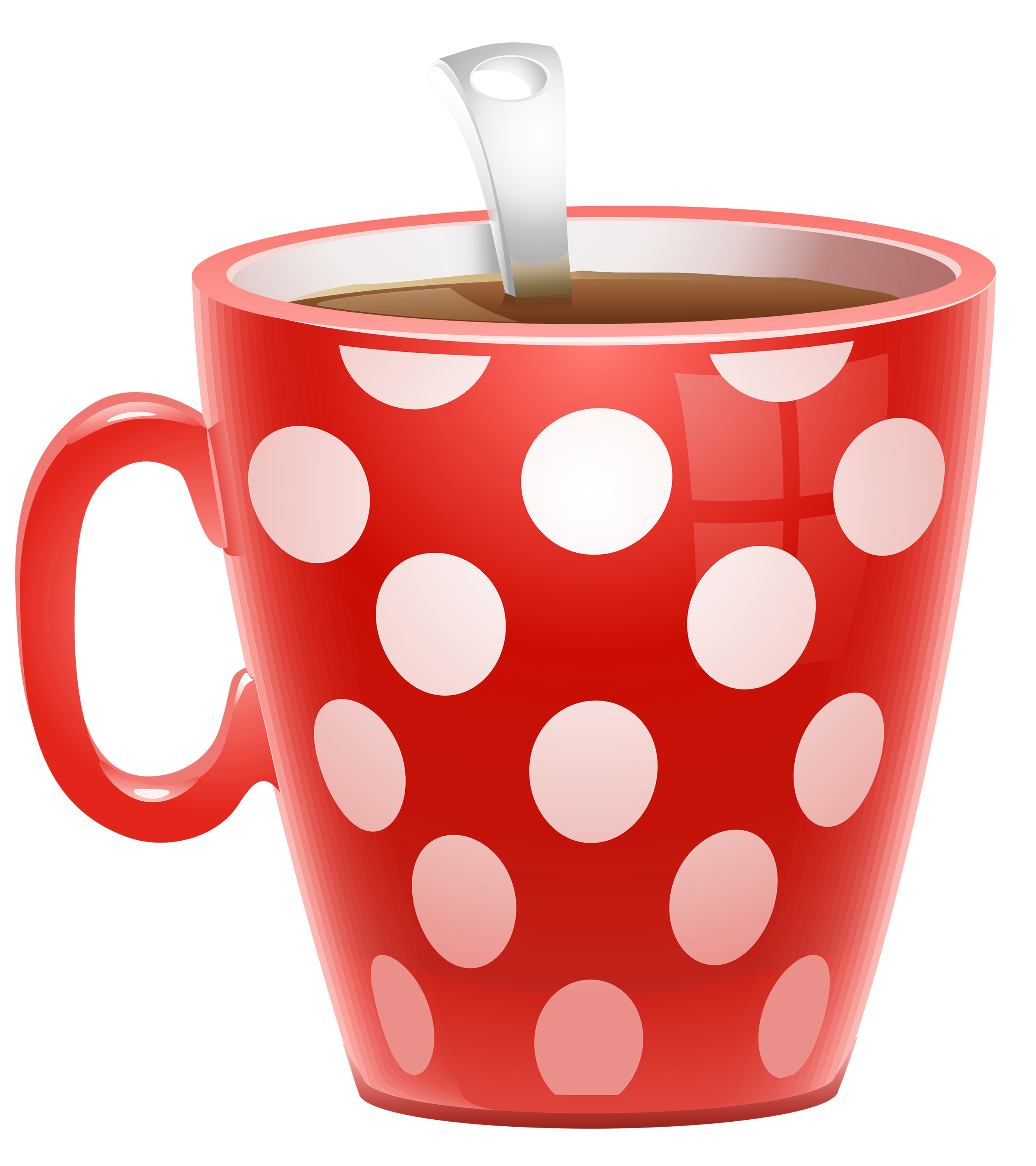 Latte clipart tumbler starbucks. Red dotted coffee cup