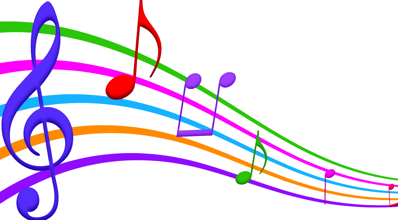 Musician clipart music staff notes. Musical note color clip