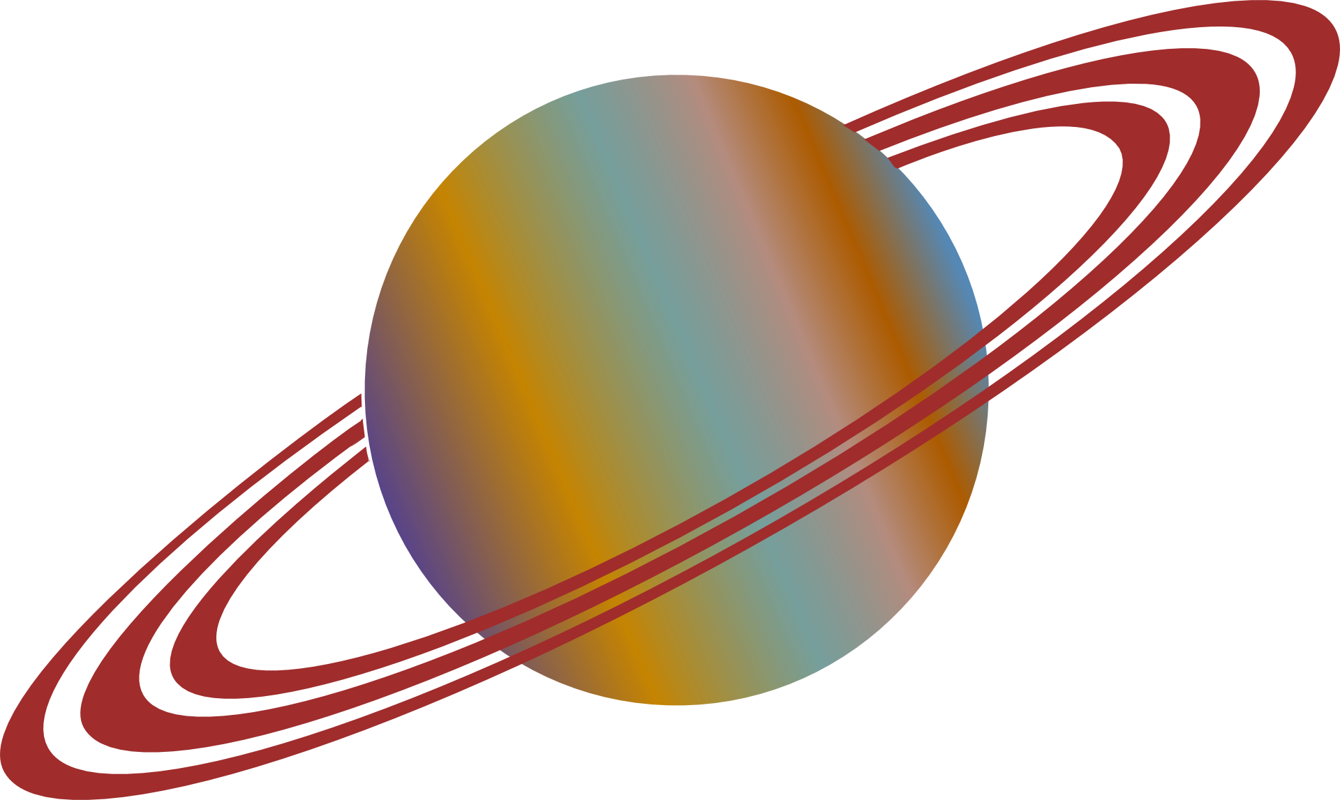 Planets clipart line. Planet ring system rings