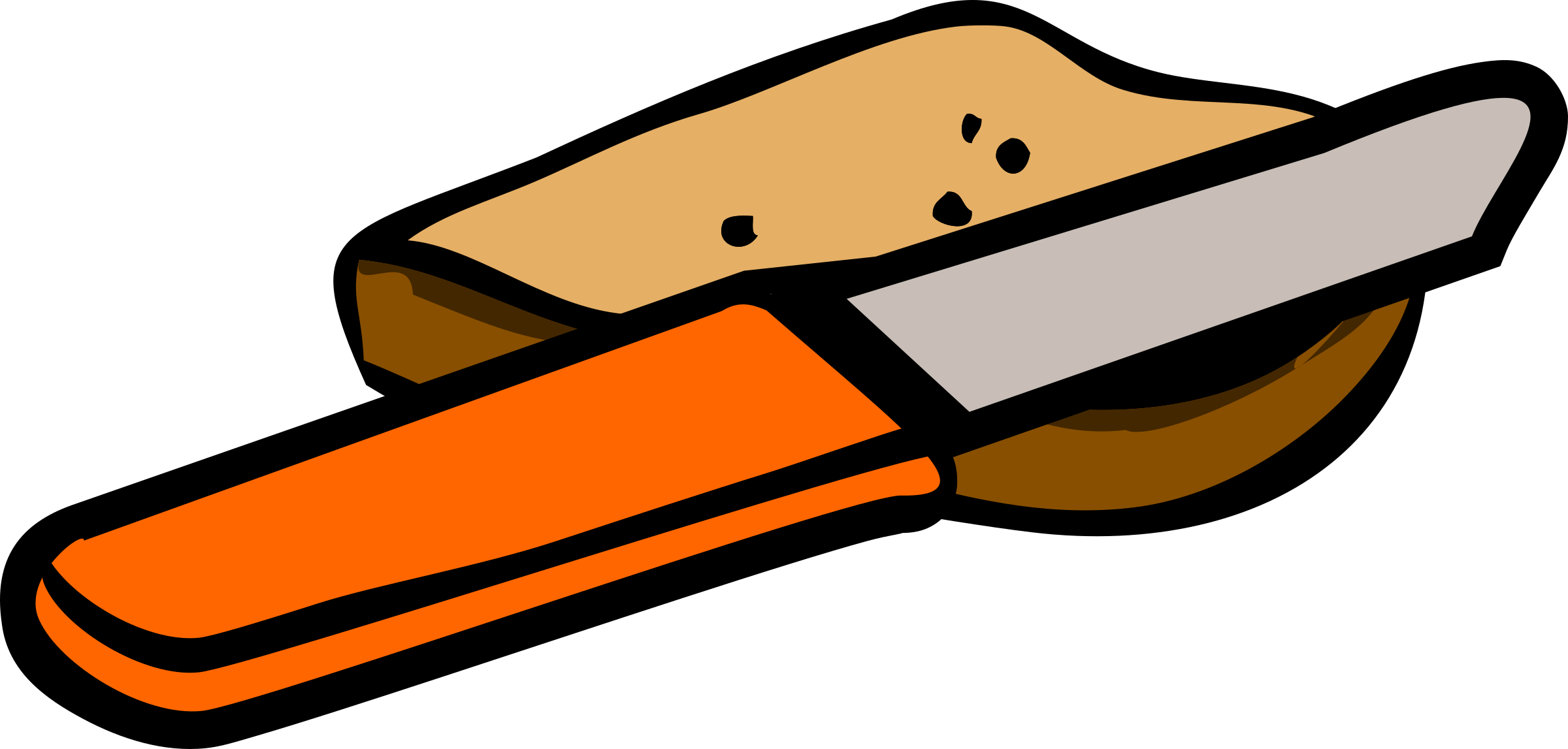 collection of knife. Clipart bread conchas