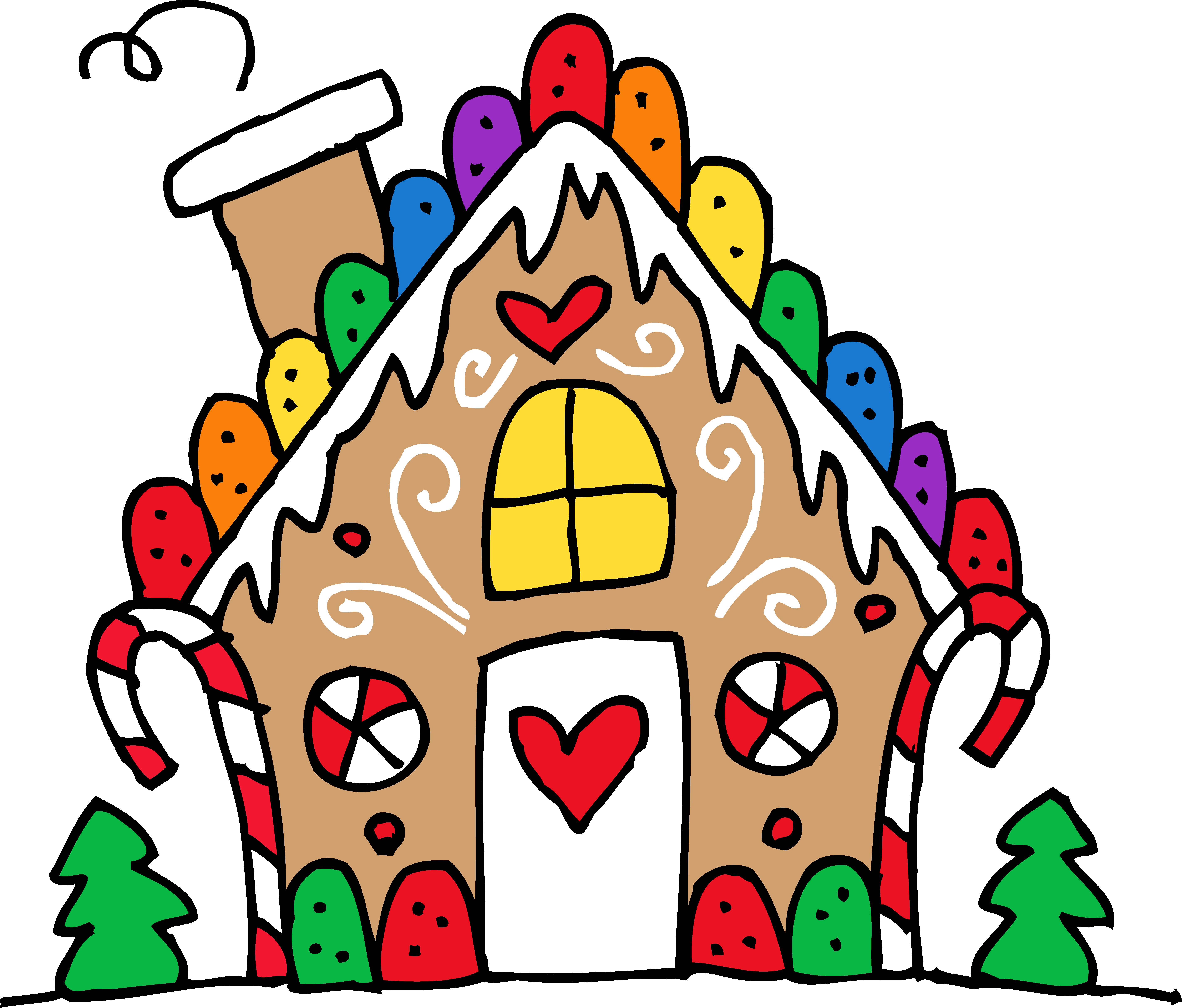 Cute gingerbread . Working clipart house