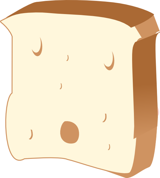 Clipart bread cute. Slice of at getdrawings