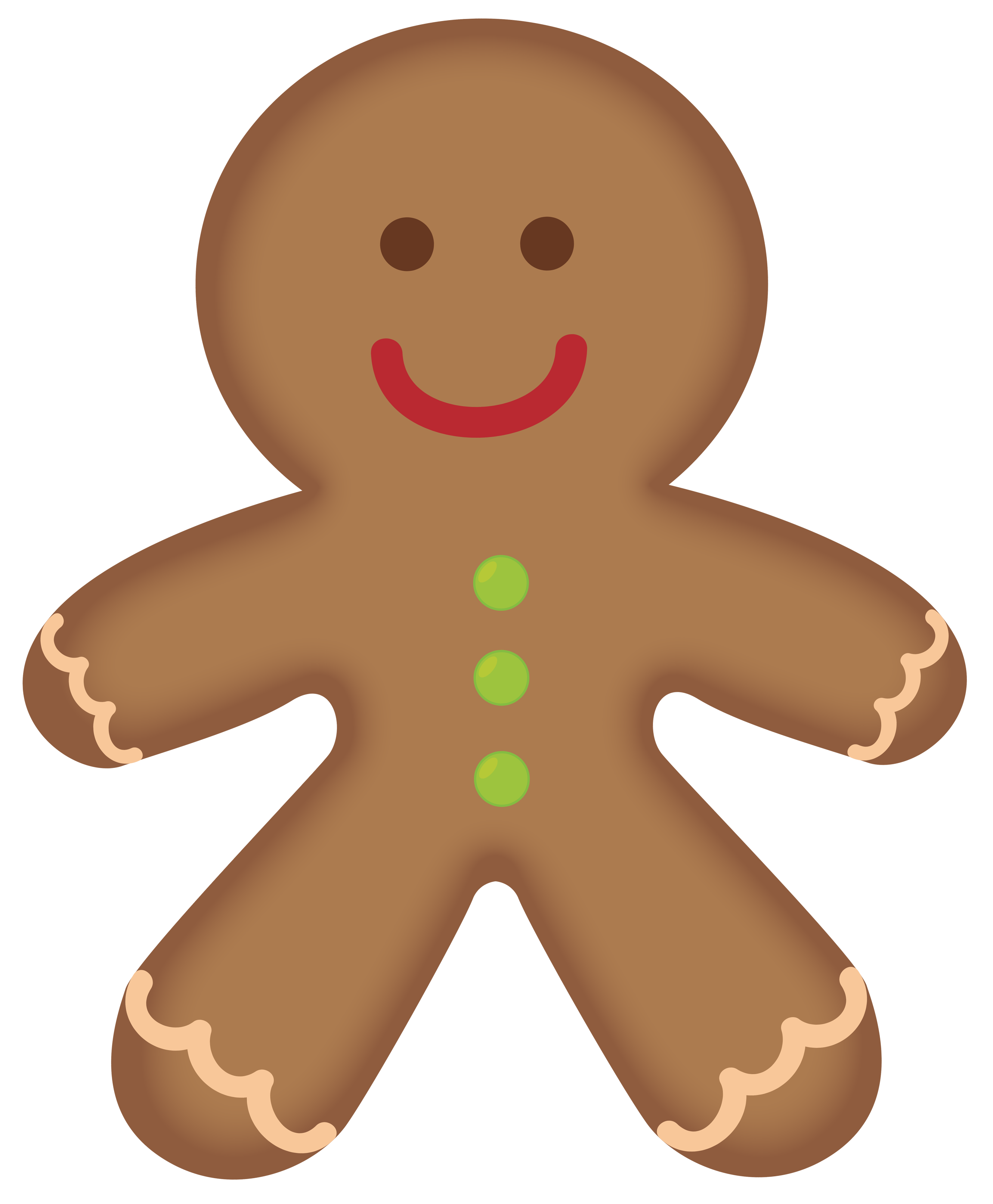 collection of cute. Gingerbread clipart walking