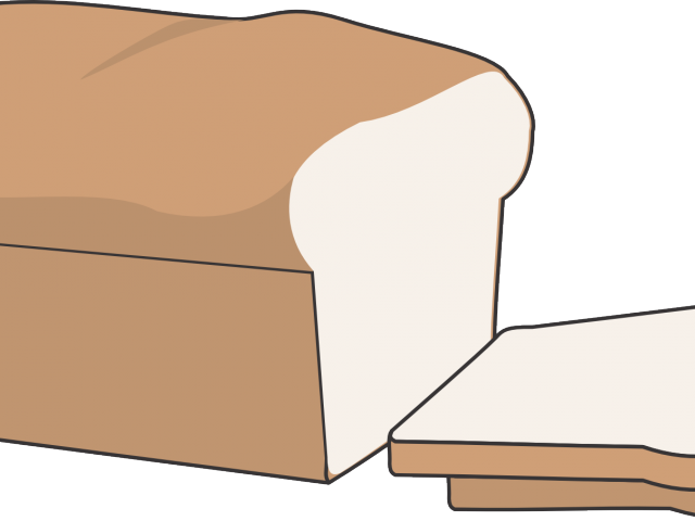 Clipart bread cute. Slice of free download