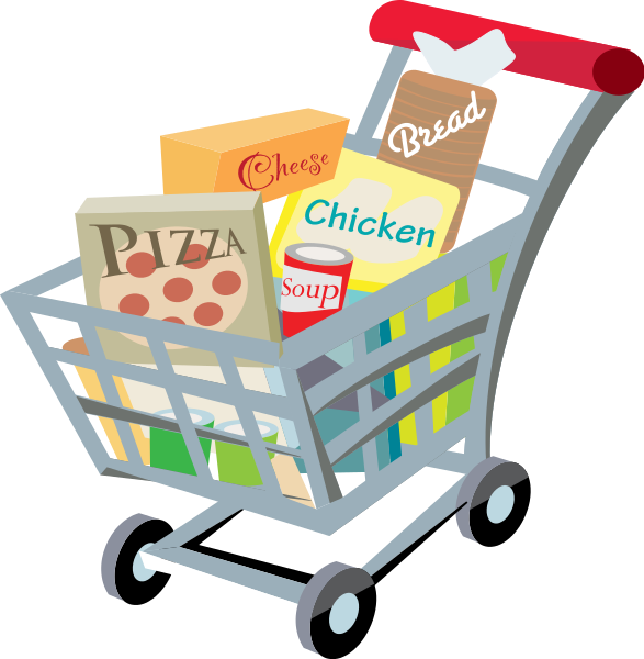 Money clipart pizza. File shopping cart with