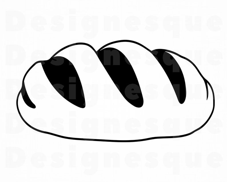 Clipart bread file. Svg loaf of files