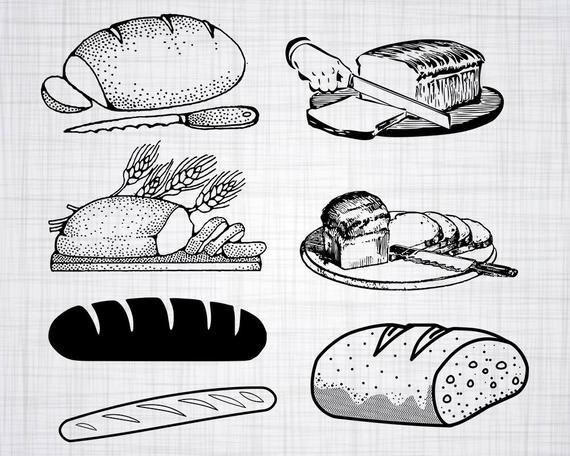 Clipart bread file. Svg bundle cut files