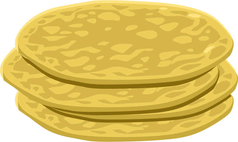 Flat bread clipground tortilla. Flour clipart animated