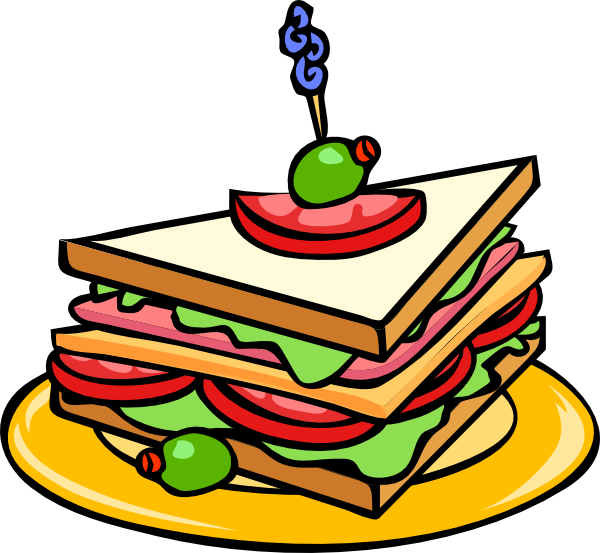 Luncheon clipart cartoon. Half sandwich panda free