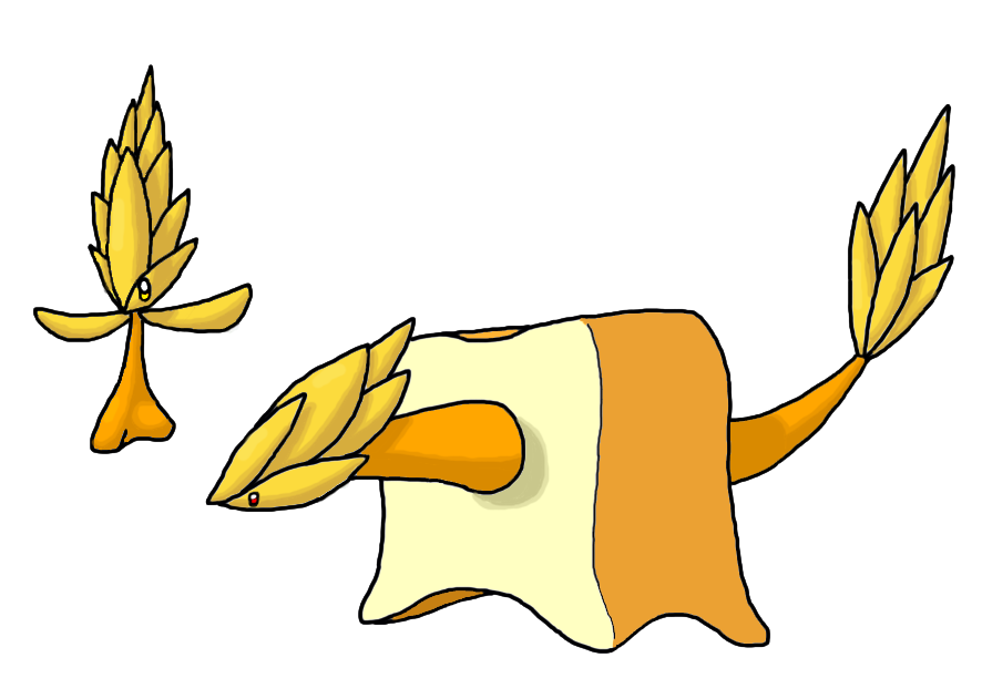 Fakemon by smiley on. Clipart bread grain