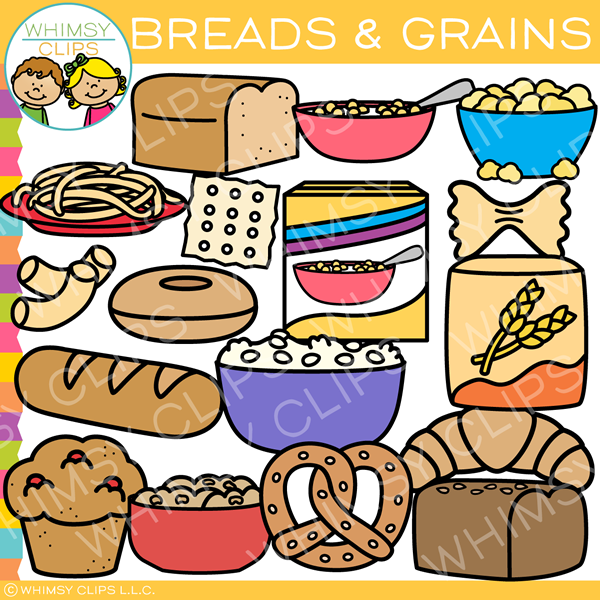 Breads and grains clip. Clipart bread high quality
