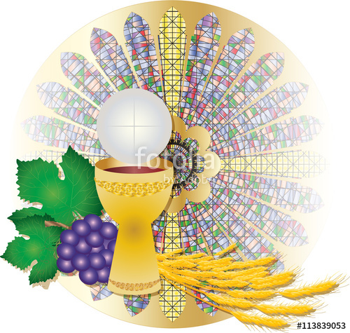 Clipart bread host. Eucharist symbols of and