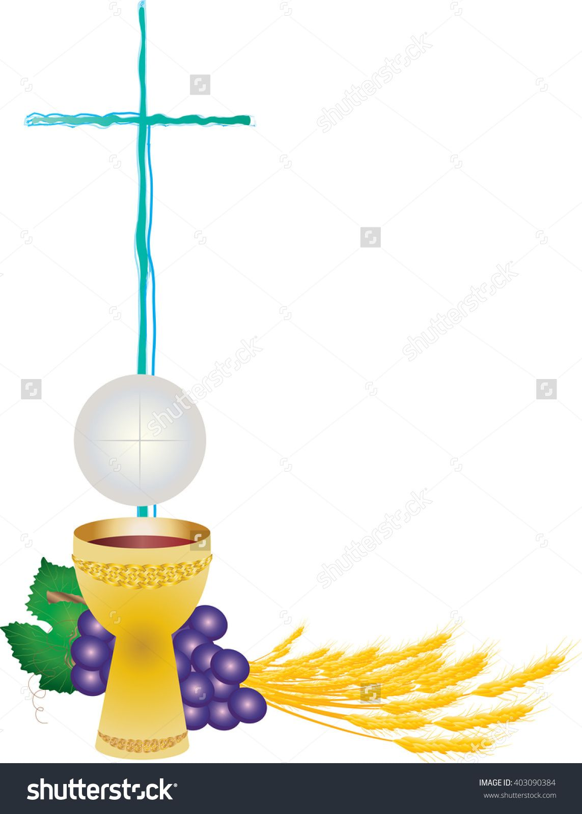 Eucharist symbols of and. Clipart bread host