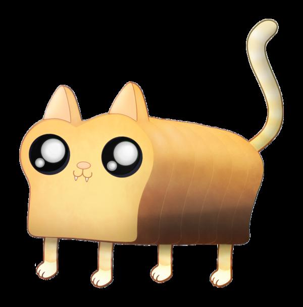 Cat by gorilla ink. Clipart bread kawaii