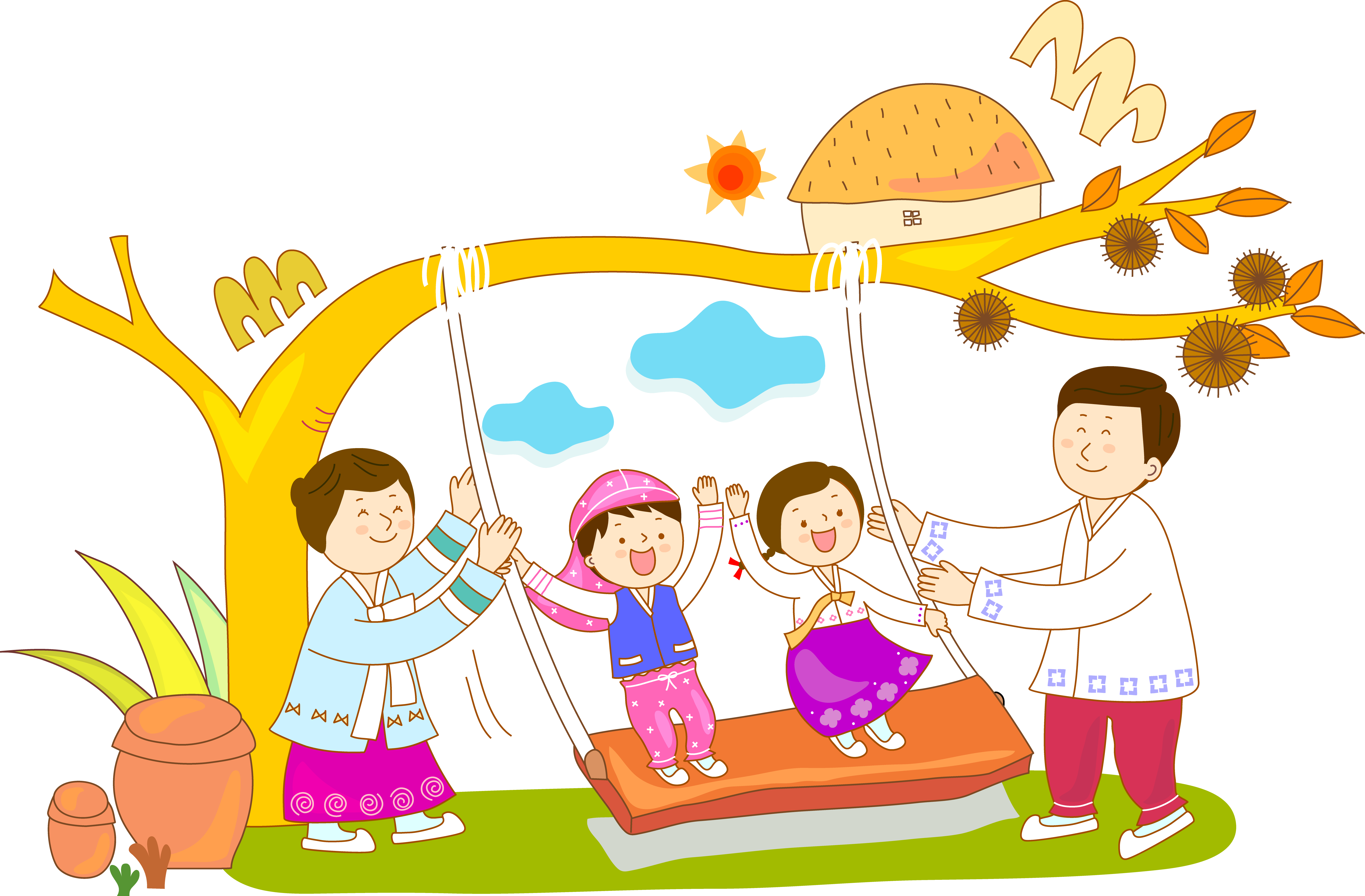 Swing Child Clip art