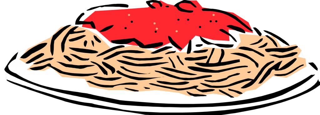collection of pasta. Luncheon clipart spaghetti