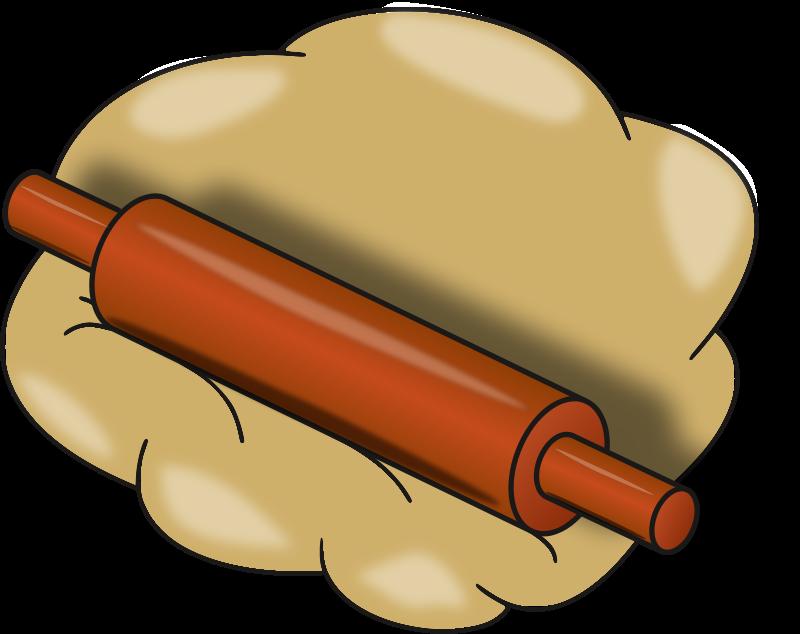 Dough retro kitchen food. Clipart bread pastry tool