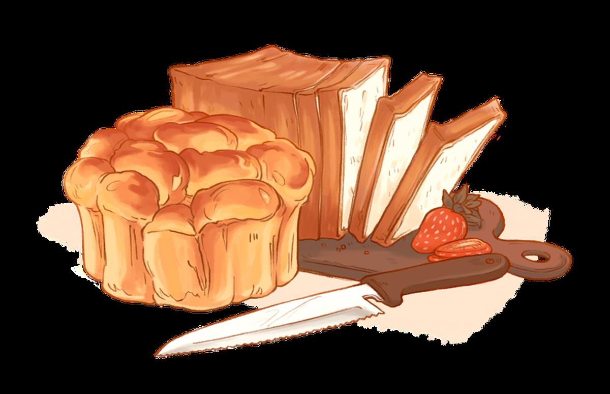 Clipart bread raisin bread. Pastries born in france