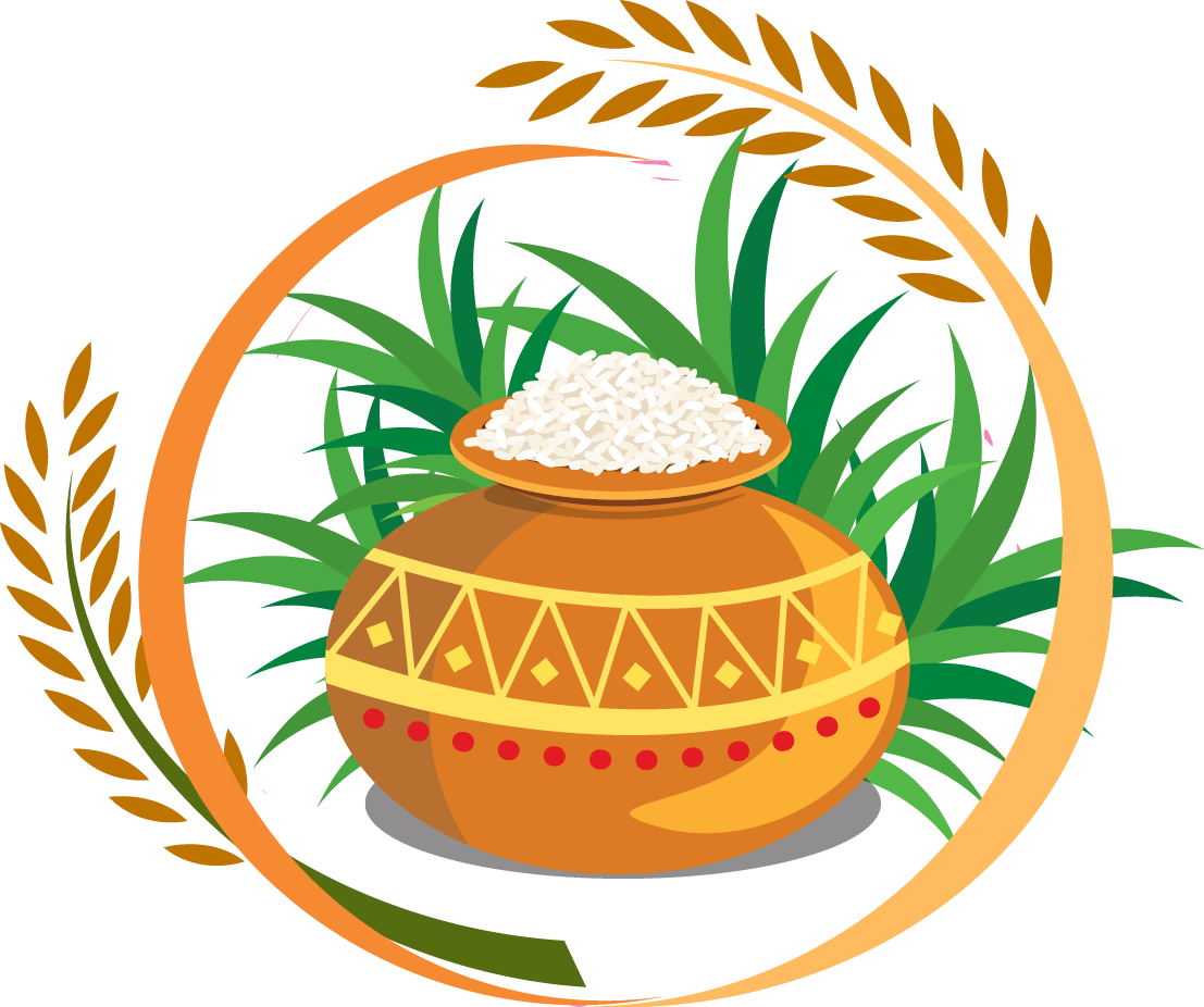 Thai pongal harvest festival. Foods clipart rice