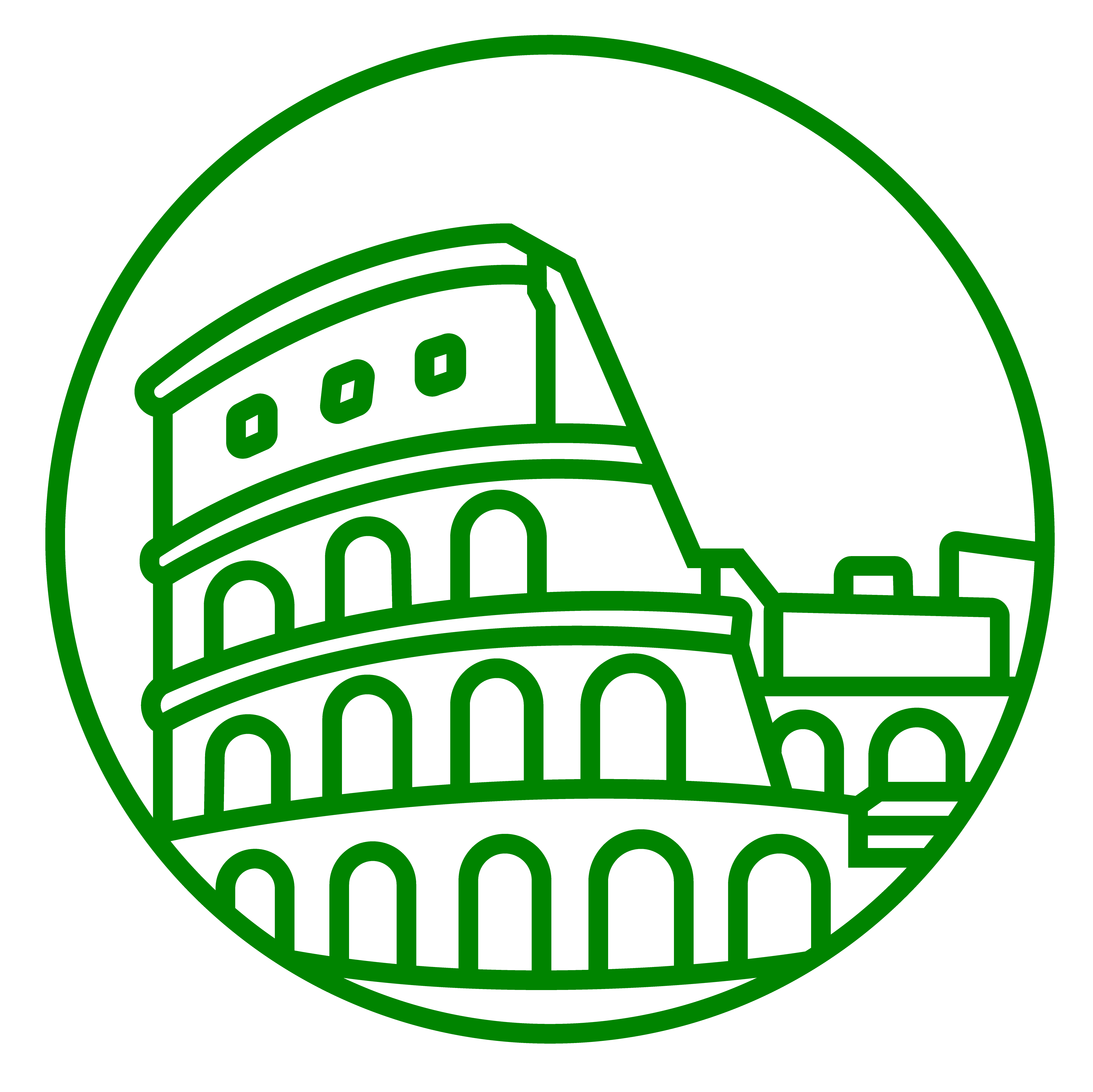 Rome travel guide attractions. Column clipart bust roman