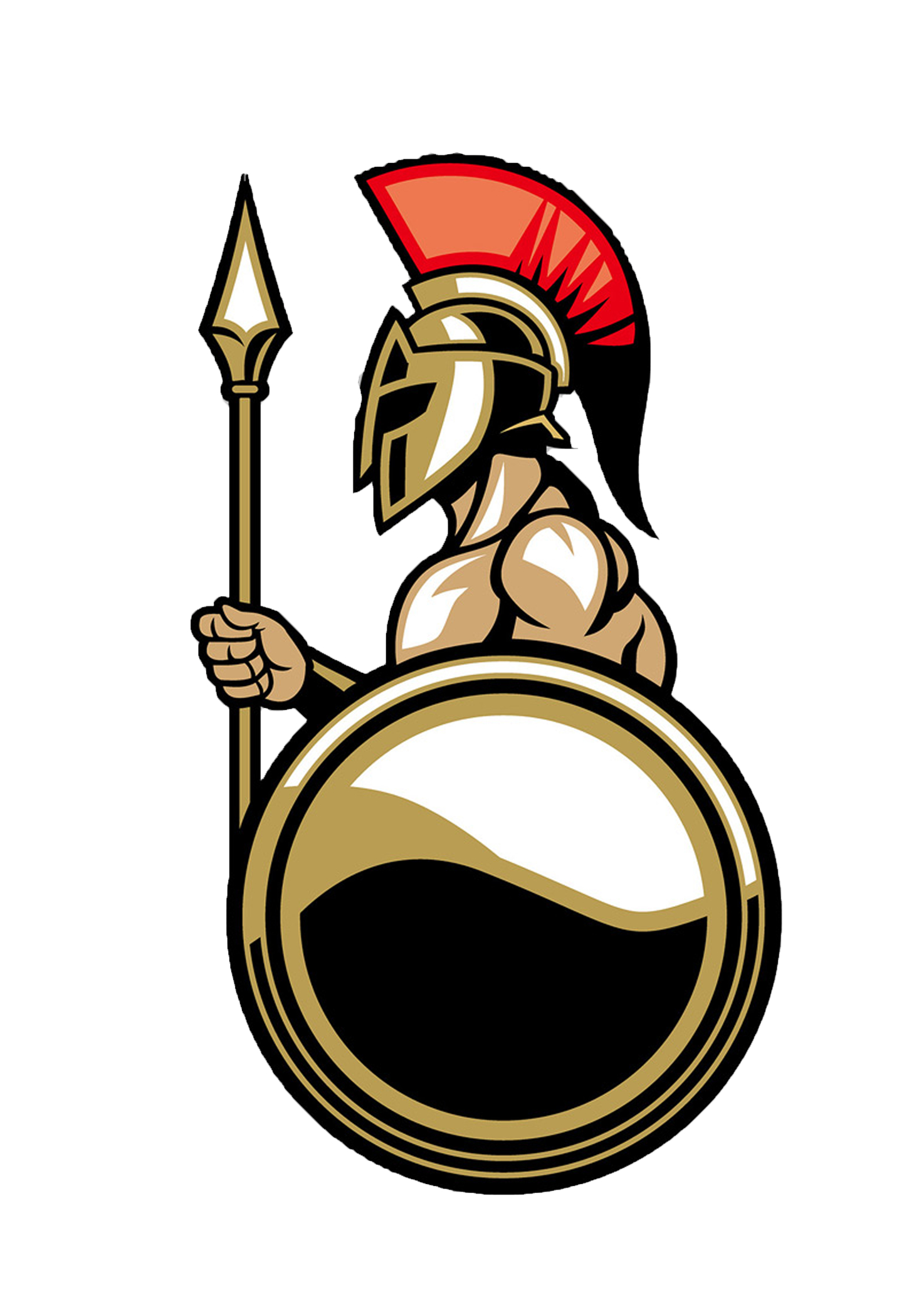 Ancient rome spartan army. Warrior clipart mask