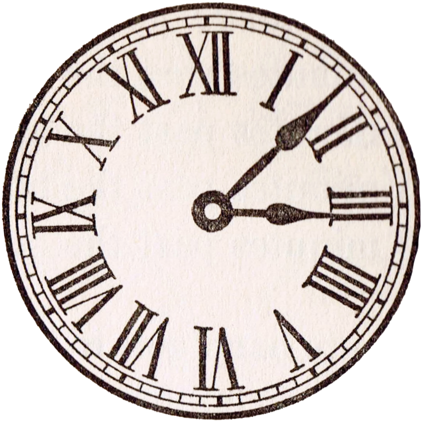 Clocks clipart time management. Clock face roman numerals