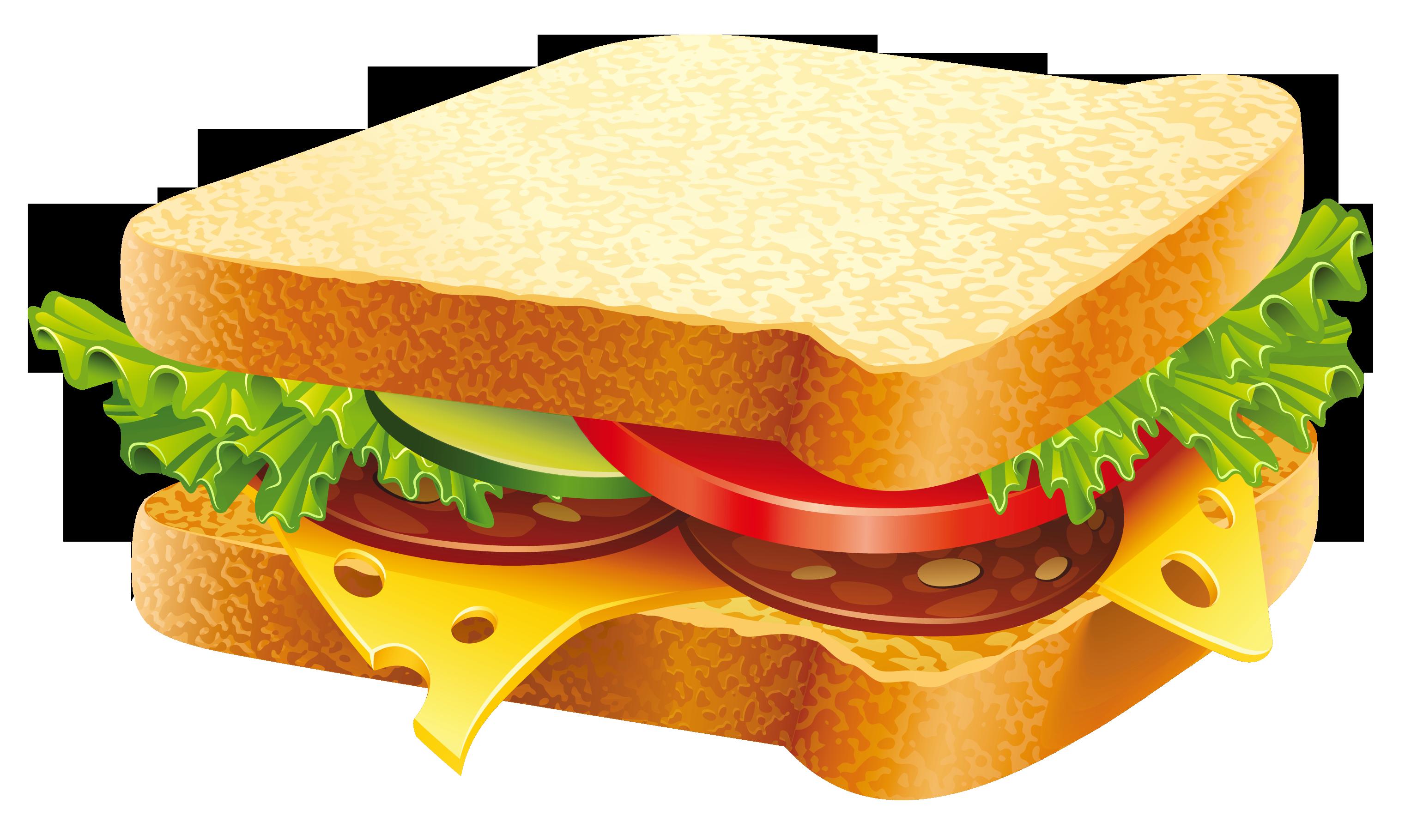 Hamburger submarine sandwich vegetable. Clipart bread sandwhich