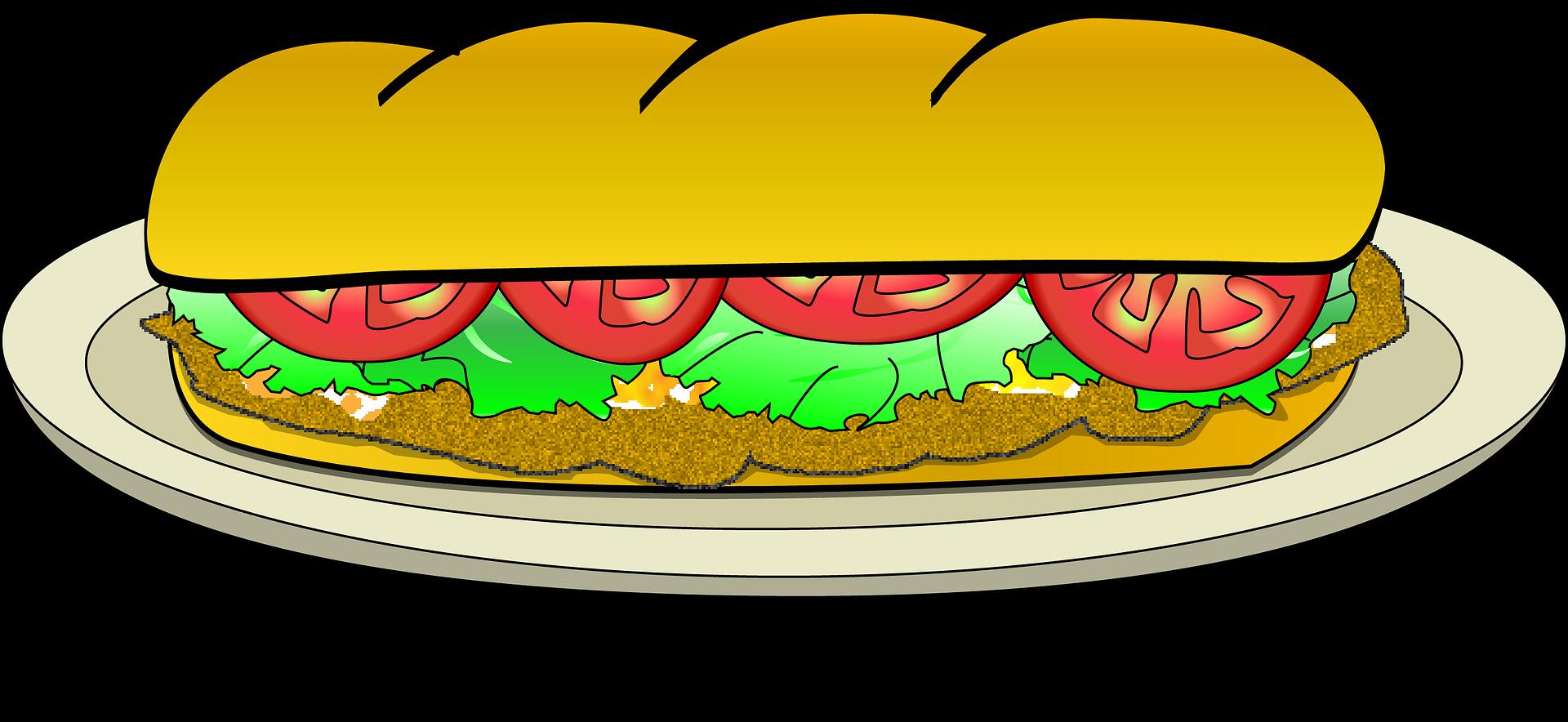 Clipart bread sandwich bread. Sxe ndwich de milanesa