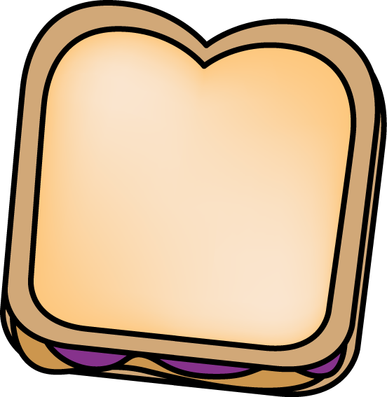 Peanut butter and jelly. Make clipart bread