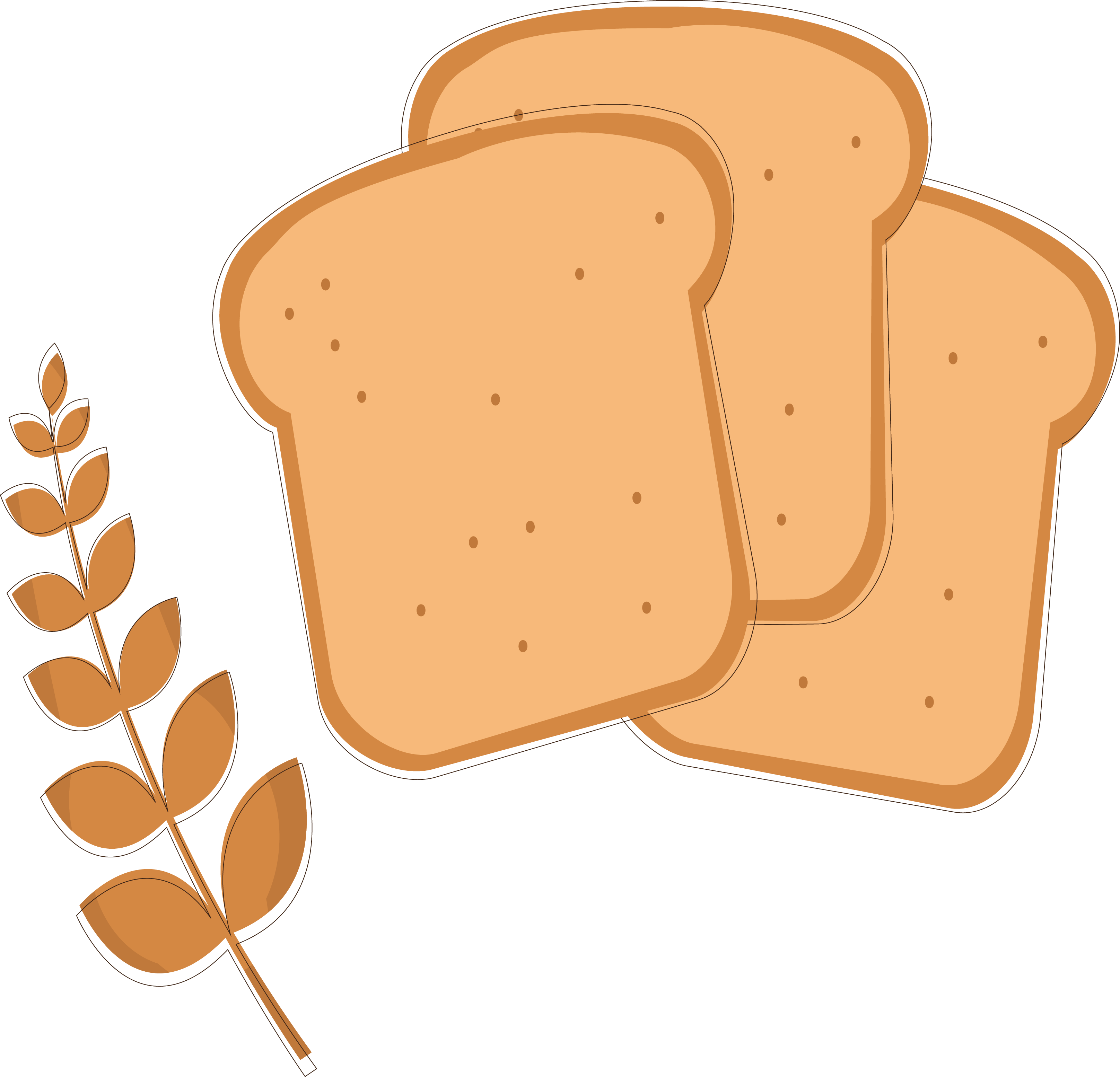 Wheat clipart wheat bread. Toast clip art fine