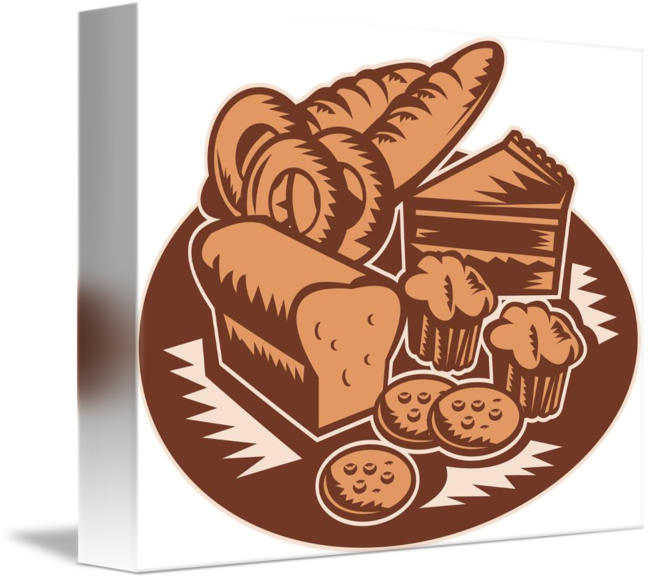Donuts clipart muffin. Pastry bakery bread cookies